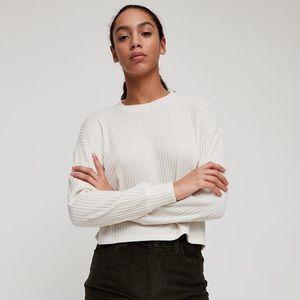 Aritzia Wilfred Free Rudko Longsleeve Shirt White